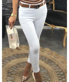 Jean's slim taille haute basic blanc