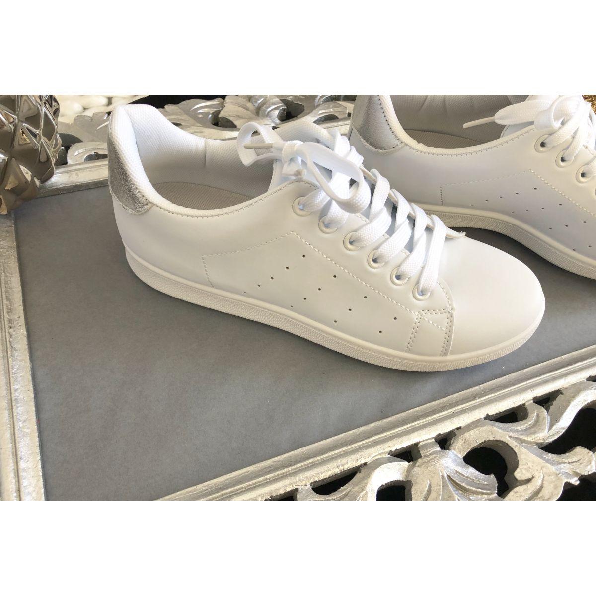 Basket stass blanche détail sylver