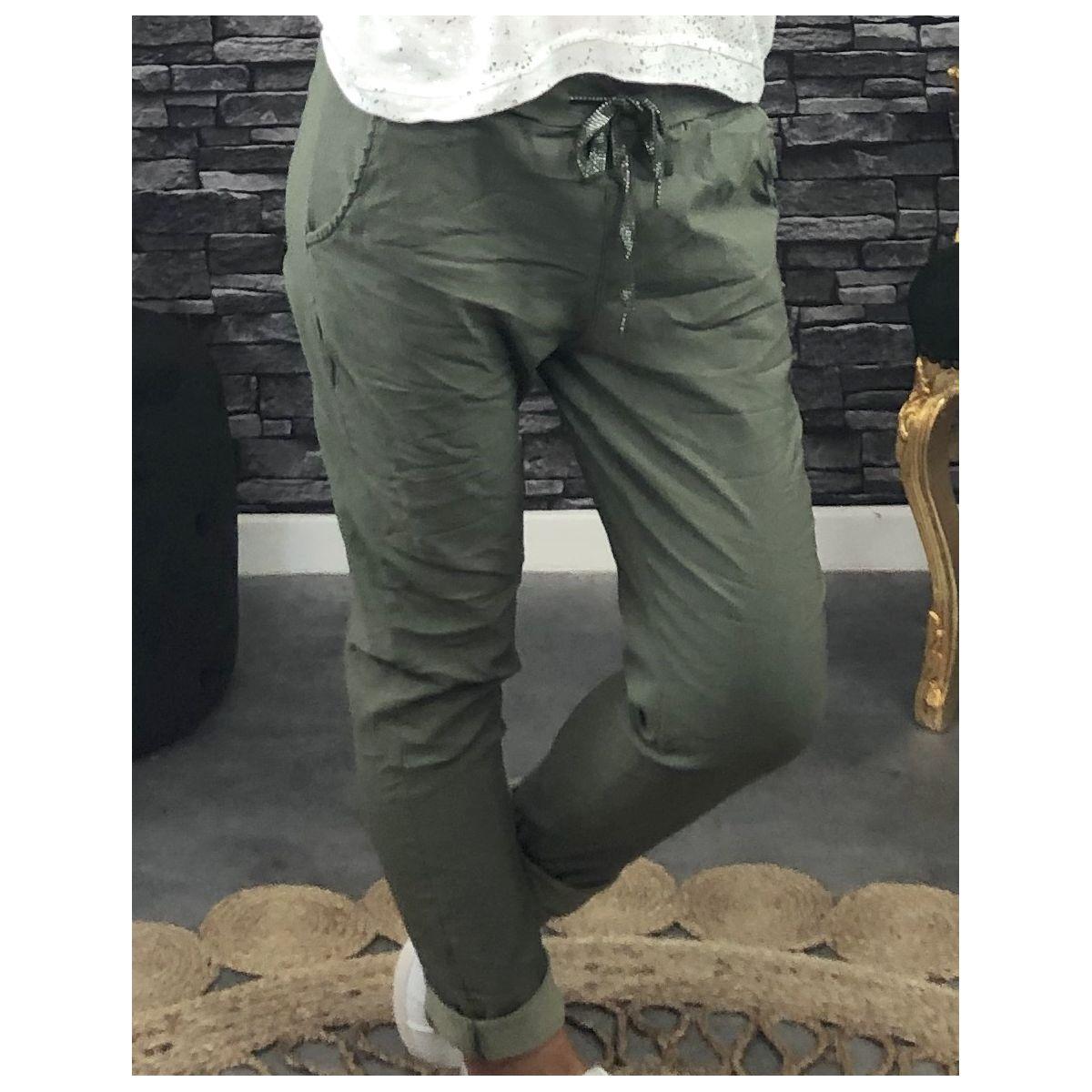 "pantalon style joggi,g ""swag""kaki"