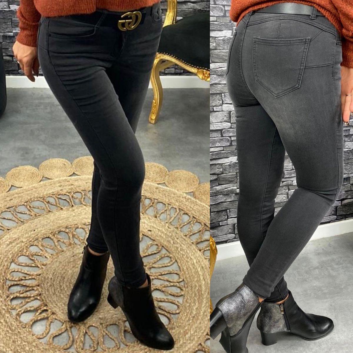 Jean's slim gris noir