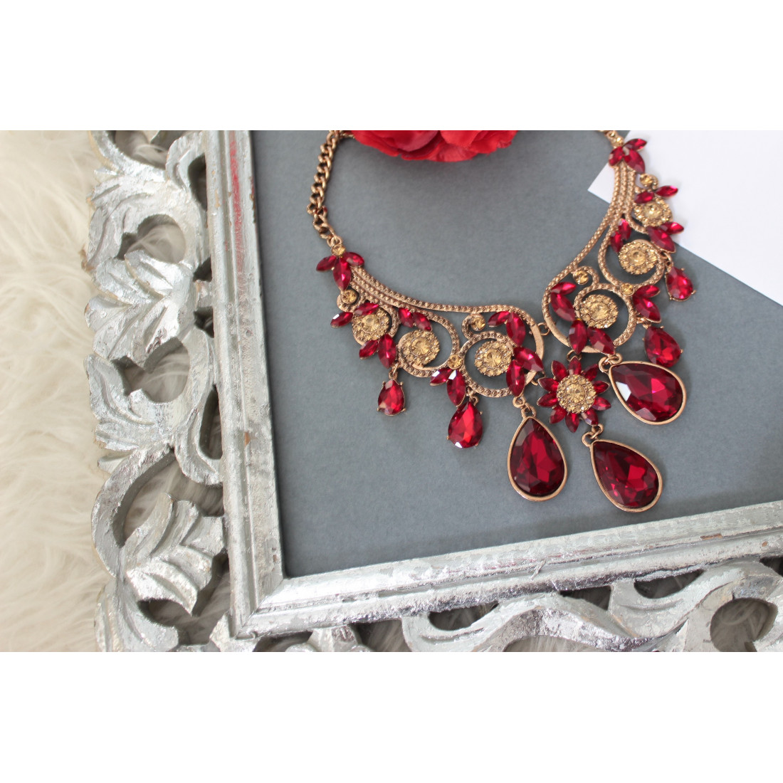 """Collier """"princesse""""red"""