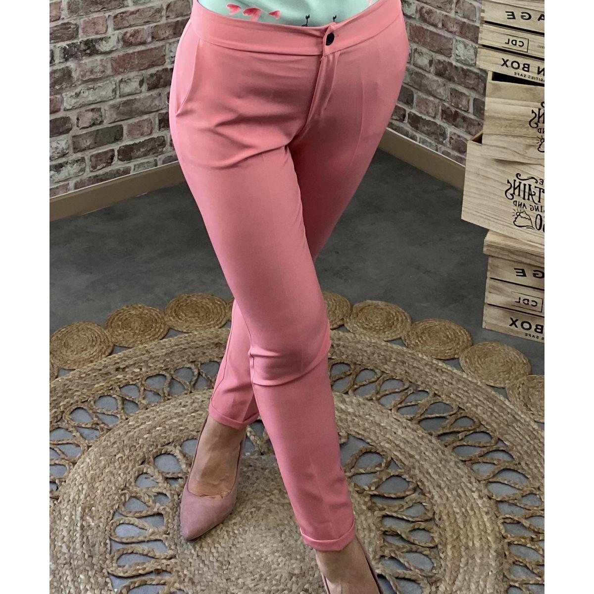Pantalon classique rose