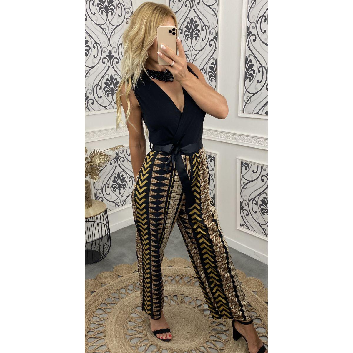 Combi-pantalon noire et motif 4