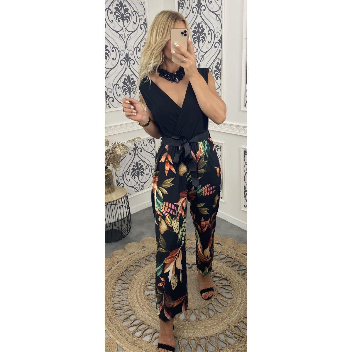 Combi-pantalon noire et tropicale 2